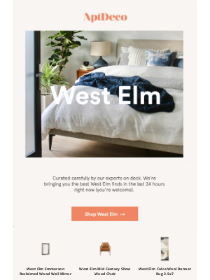 AptDeco - West Elm finds up to 70% off
