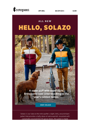 Cotopaxi - Meet Our Version Of A Puffer: Solazo