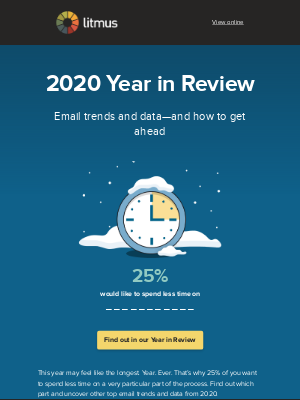 Litmus - 25% of you want to spend less time on...