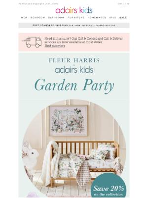 Fleur Harris x Adairs Kids Garden Party 🐇🌼