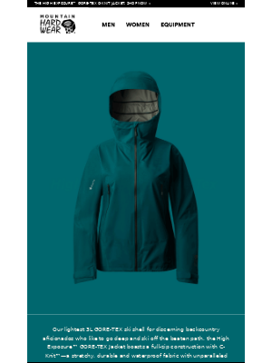 Our lightest 3L GORE-TEX shell.