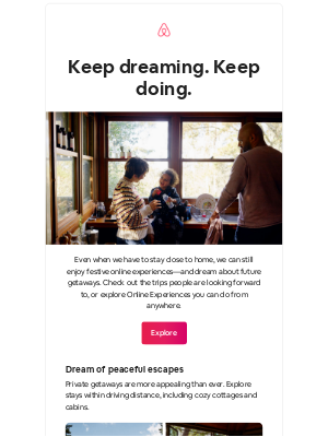 Airbnb - Two ways to keep your travel spirit bright