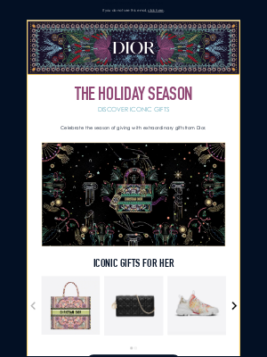Dior UK - The holiday season: share joyful moments