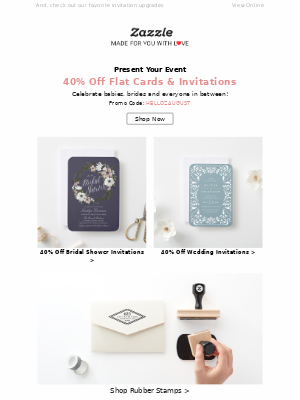 Say YES to 40% Off Wedding Invites, Thank You Cards & More