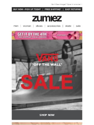 🚨 VANS SALE + New Styles & Sizes 🏁