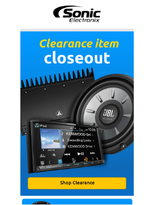 Sonic Electronix - Save up to 25% off Clearance Items While Supplies Last!