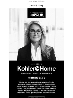 Kohler Co. - Kitchen & Bath Pros, Don't Miss Kohler@Home 🛠️