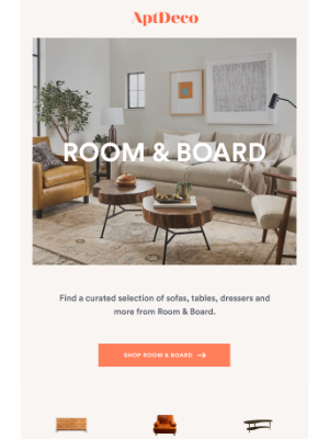 AptDeco - Room & Board New Additions Marked Down