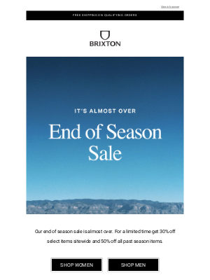 Brixton LLC - Sale: It's almost over!
