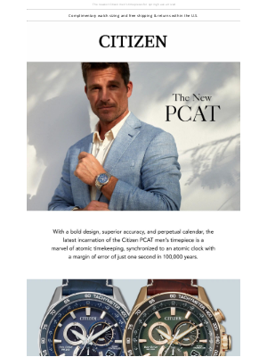 The Citizen PCAT Timepiece for 2021