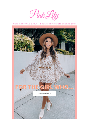 The Pink Lily Boutique - for the girl who...