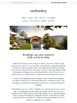 onefinestay - It's not too late to save your summer