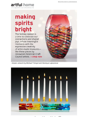 Artful Home - Make Spirits Bright with Holiday Art & Gifts