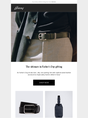 Brioni - The ultimate in Father's Day gifting
