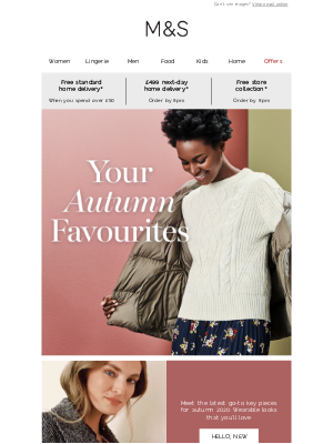 Marks and Spencer (UK) - Your first look at autumn 🍂