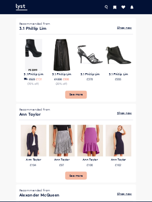 These just arrived: 3.1 Phillip Lim, Ann Taylor, Alexander McQueen