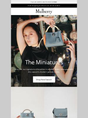 Mulberry (UK) - New In: Signature Minis
