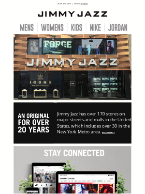 Jimmy Jazz - An Original for over 20 years!