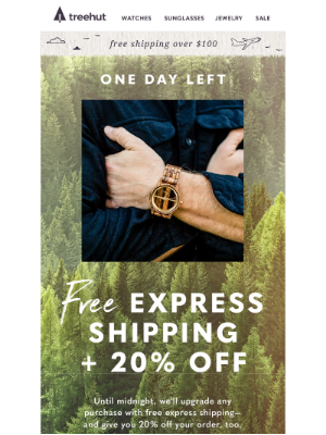 🚂 Free express shipping is leaving the station!