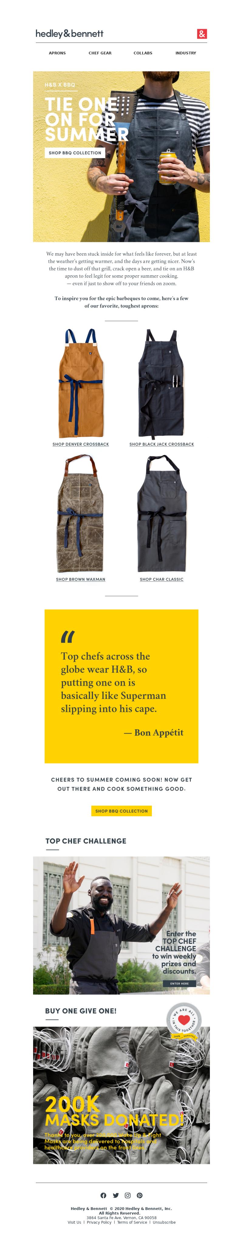 APRONS CHEF GEAR COLLABS INDUSTRY Button Text Custom Custom Custom Hedley &