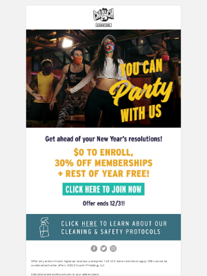 Crunch Fitness - You Can Party With Us!