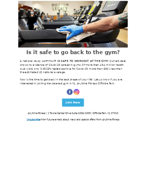 Anytime Fitness - Is going back to the gym safe?