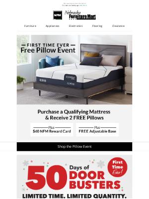 Nebraska Furniture Mart - First time ever Mattress Event and New Doorbusters
