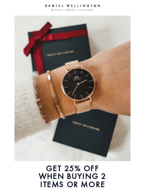 Daniel Wellington - Last days to get your gifts delivered on time for xmas!
