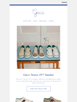 Gucci (UK) - The Gucci Tennis 1977 Sneaker