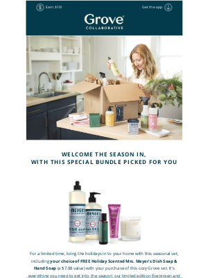 Grove Collaborative - Final Reminder: Your FREE Mrs. Meyer's Holiday Scents