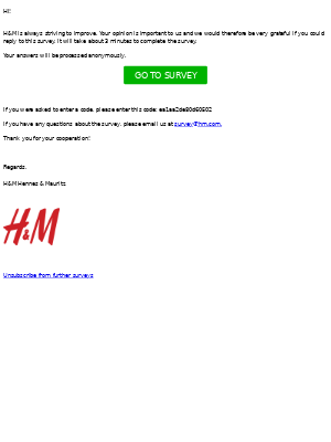 H&M wants to hear your opinion