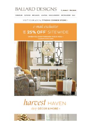 Ballard Designs - A harvest of new décor