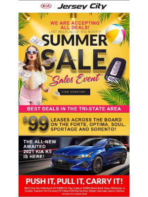 The Last Weekend Of The Month Means We Will Accept Every Deal Here At Jersey City Kia!