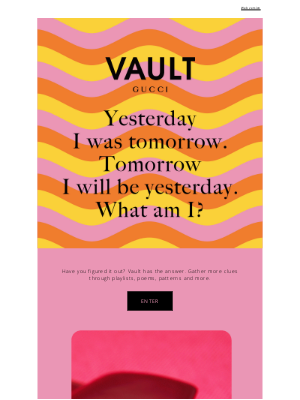 Gucci USA - Riddle Me Gucci. Vault Is Coming.