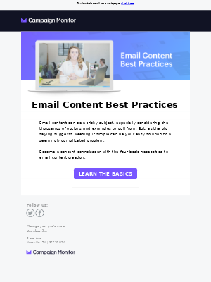 4 basic elements to apply to your email content