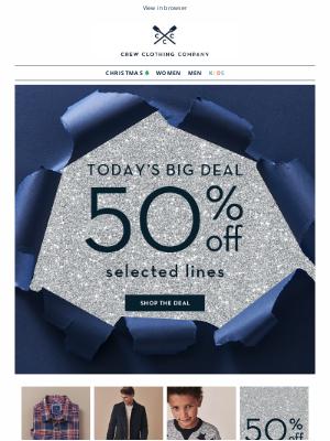 Crew Clothing (UK) - ⭐ Up to 50% OFF EVERYTHING ⭐