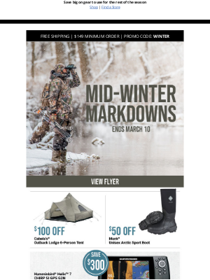 Bass Pro Shops - Mid-Winter Markdowns: STARTS NOW