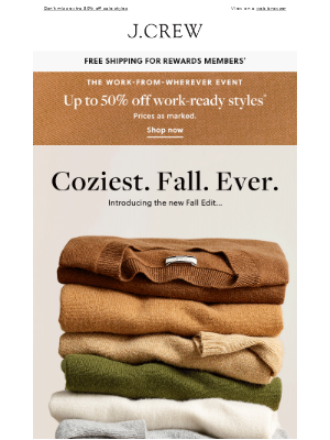 J.Crew Factory - Coziest fall ever