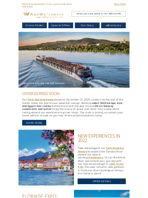 AmaWaterways - Only 48 Hours Left for 2022 Early Booking Reward!