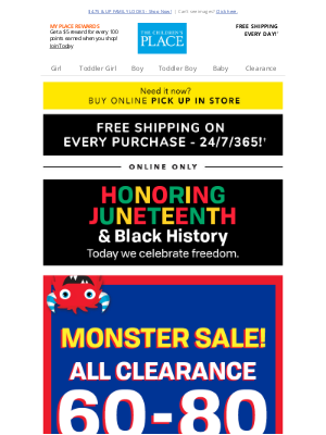 Crazy 8 - ⚡ Monster Sale! 60-80% off ALL Clearance + FREE shipping!