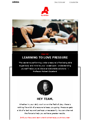 Learn how to love pressure