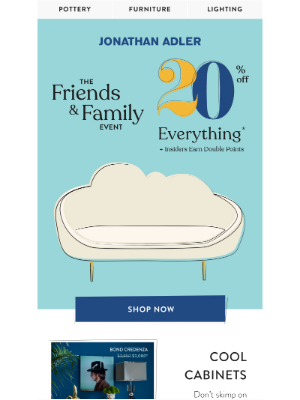 Jonathan Adler - Friends & Family: 20% Off Everything Starts Now