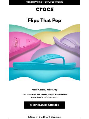 Crocs - Your favorite Classic sandals just got a burst of new color.