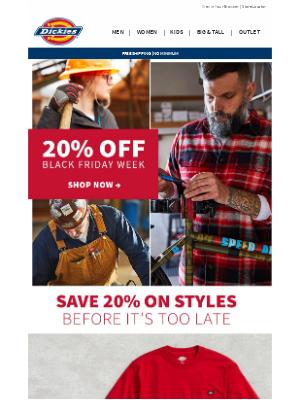 Dickies - Major Holiday Savings | 20% Off Everything