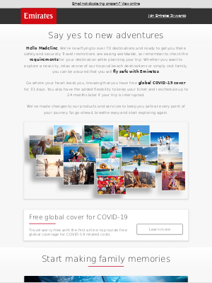 Emirates - We're ready for you to explore the world again