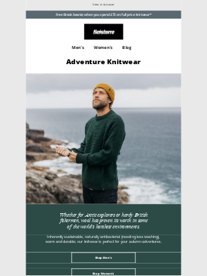 Finisterre - Free Beanie With Knitwear Offer*