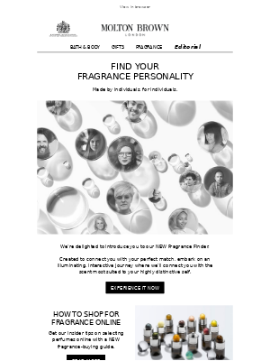 NEW Fragrance Finder | Meet Your Match