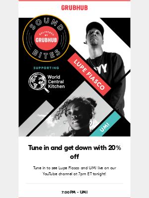 Sound Bites Tonight! See Lupe Fiasco and UMI live! 🎶