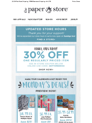 The Paper Store - Don't let these savings get away!
