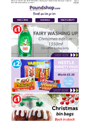 NEW IN! 60% off Christmas Edition Fairy Washing Up 🎉
